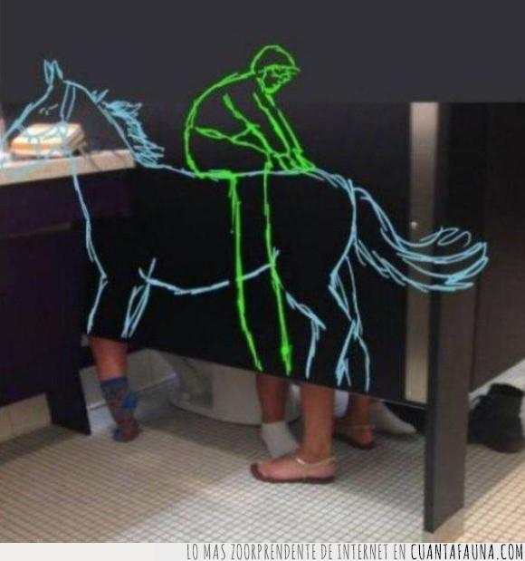 caballo,haciendolo,jinete,lavabo,mentes inocentes,váter