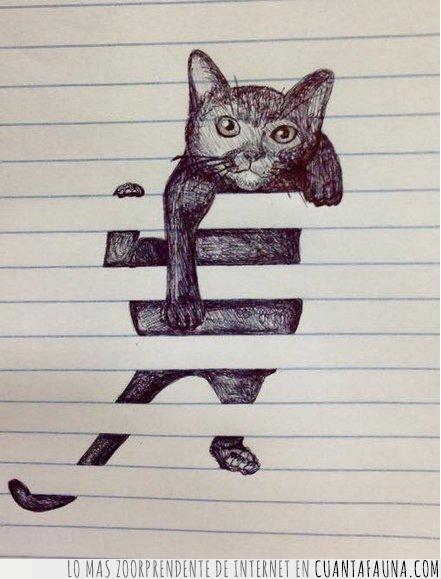 boli,cartucho,dibujo,garabato,gastar,gato,libreta,líneas,negro,tinta