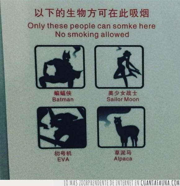 alpaca,batman,eva,fumar,sailor moon