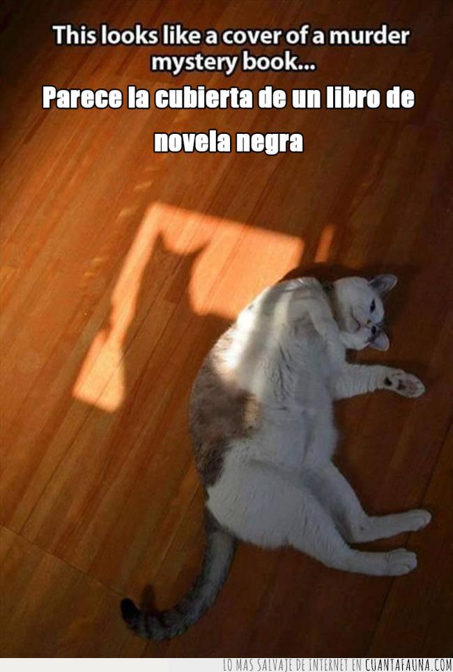 asesinato,cadáver,crimen,escena,libro,negra,novela,sombra,suelo