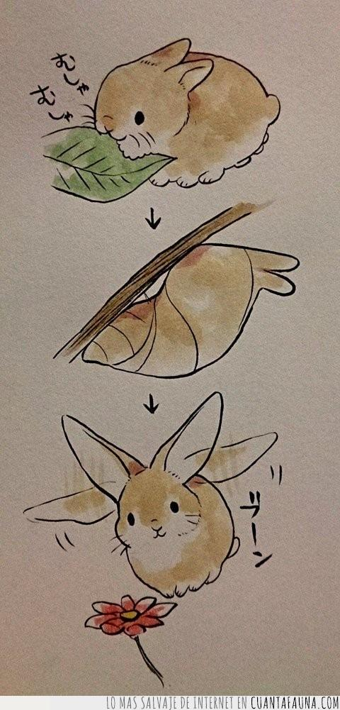 comer,cómic,conejo,crecer,crisálida,dibujo,dumbo,orejas,tira,volar