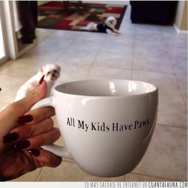 beber,desayunos,frase,hijos,patas,taza