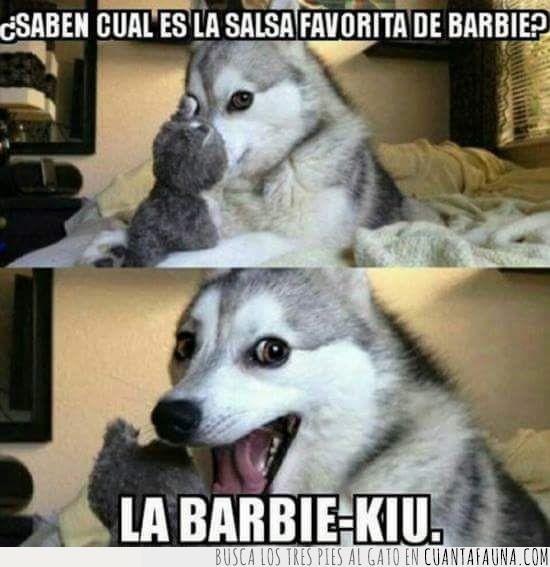 barbie,chiste,perro