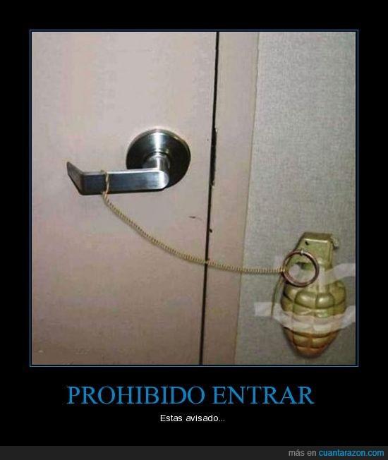 entrar,granada,puerta,trampa