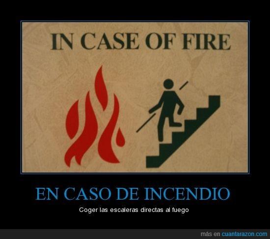 incendio escaleras al fuego