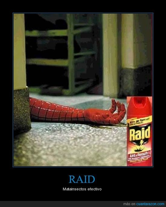 insecticida,raid,spiderman