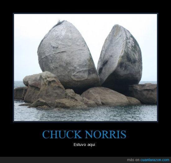 chuck norris,estuvo aquí,partida,roca,split apple rock
