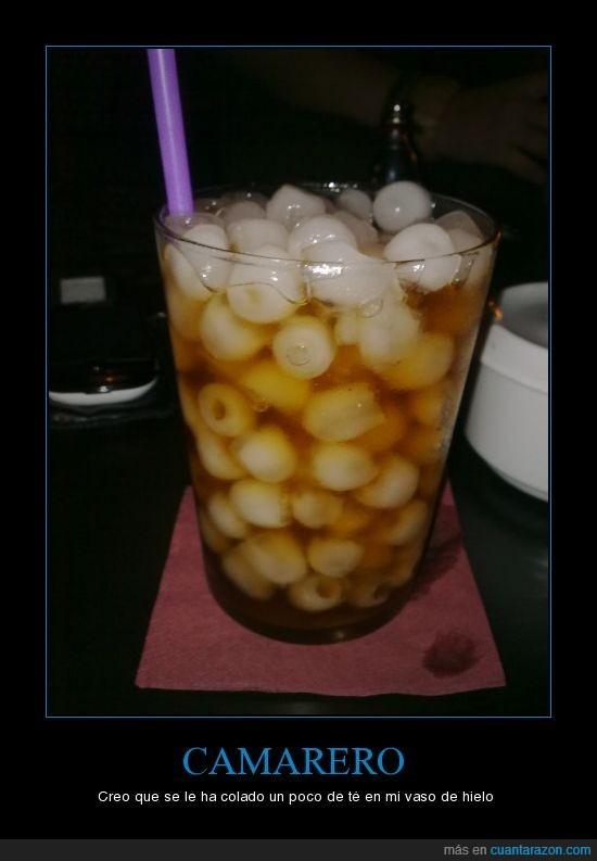 camarero,hielo,vaso