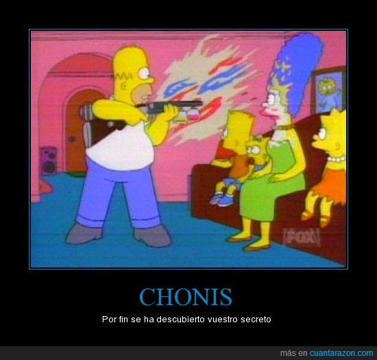 chonis,homer,maquillaje,marge