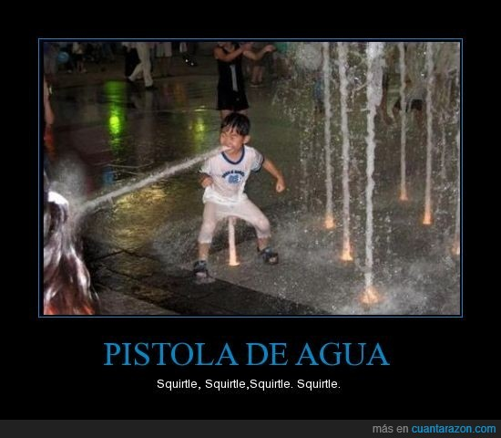 agua,niño,pistola