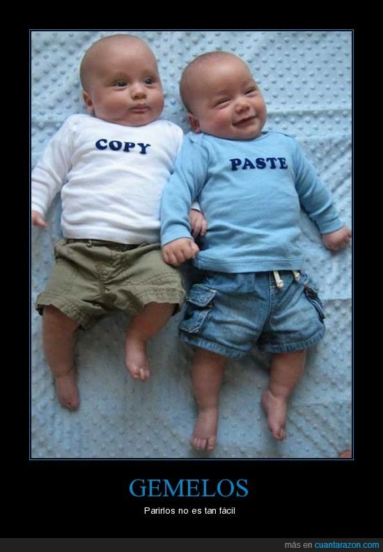 copiar pegar,copy paste,gemelos