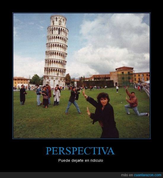 perspectiva,pisa,ridículo,torre