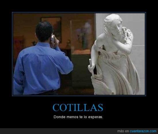 cotilla,estatua