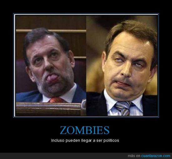 políticos,rajoy,zapatero,zombies