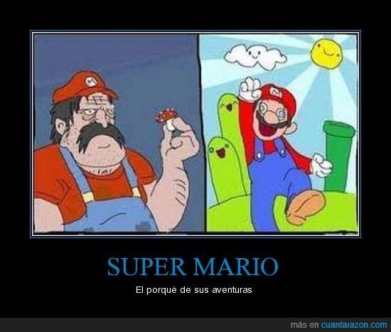 alucinación,Mario,seta,super