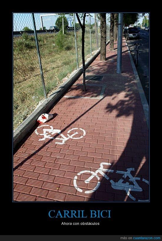bici,carril,obstaculos,torrejon de ardoz