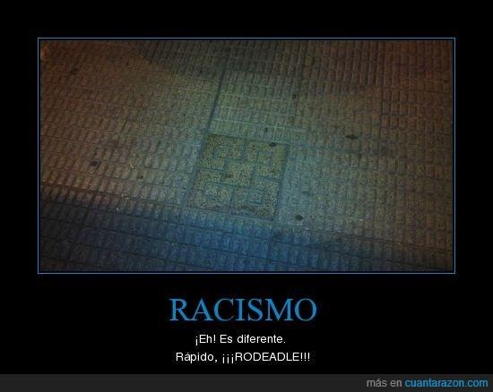 baldosa,losa,racismo