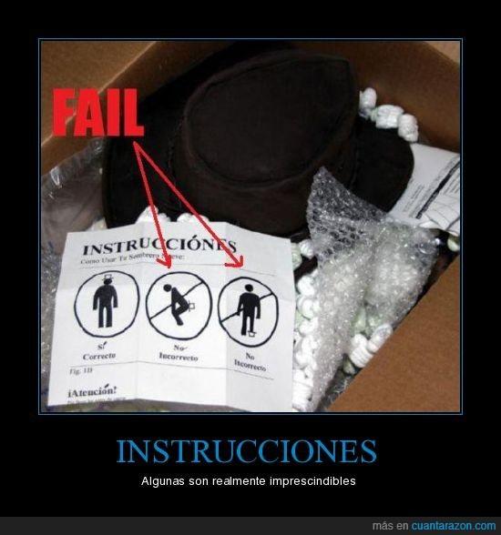 imprescindibles,instrucciones,sombrero