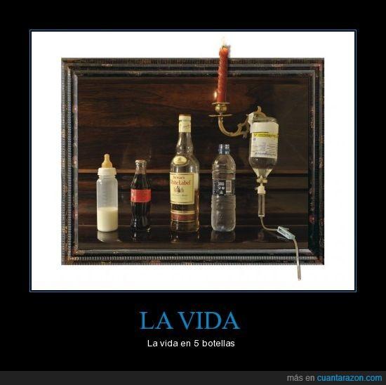 botellas,vida