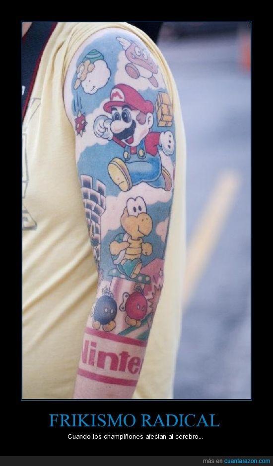 friki,mario,tatuaje