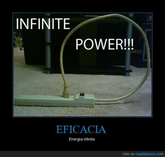 eficacia,energía,infinita