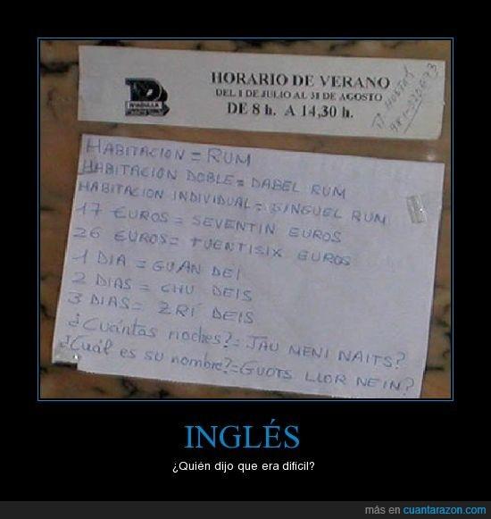 cartel,inglés,spanglish,vergüenza ajena