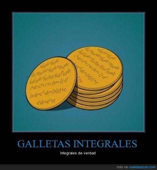 galletas,integrales,matemáticas
