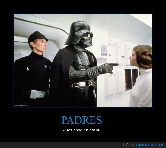 darth vader,leia,padres