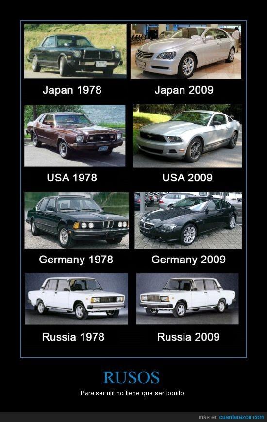 BMW,lada,mustang,rusos