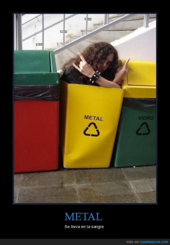 friki,heavy,metal,reciclaje