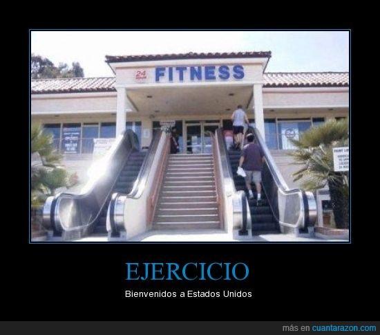 ejercicio,escaleras mecánicas,estados unidos,fitness,gordos