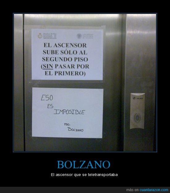 ascensor,bolazano,primero,upv