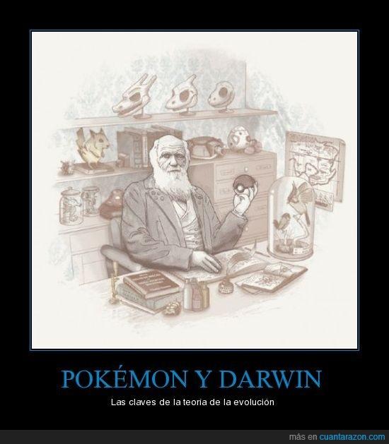 darwin,pokemon,teoría evolución