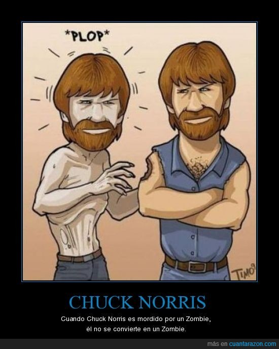 chuck norris,mordisco,zombie