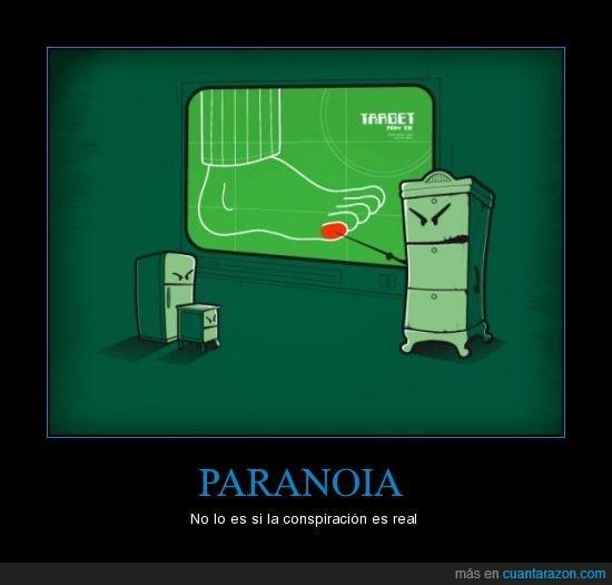conspiracion,meñique,muebles,paranoia,pie