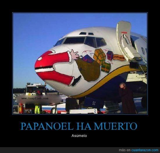 accidente,avión,navidad,papanoel