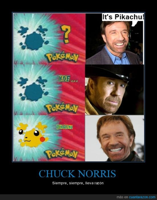 chuck norris,pikachu,pókemos