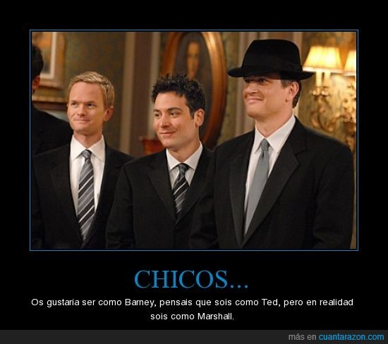 barney,chicos,como conoci a vuestra madre,himym,how i met your mother,marshall,ted