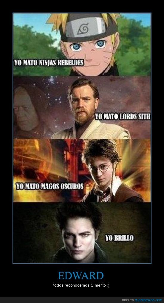crepúsculo,edward,harry potter,naruto,star wars