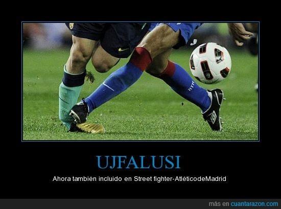 atético de madrid futbol,barça,juego,messi,sucio,tobillo,Ujfalusi