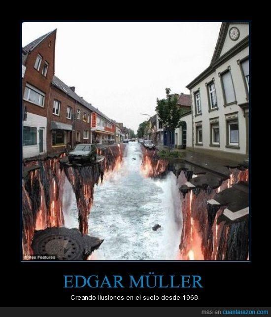 Agua,Arte,Asfalto,Edgar,Mueller,Müller,Pintura; Infierno