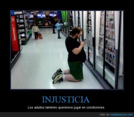 adultos,injusticia,jugon,videojuegos
