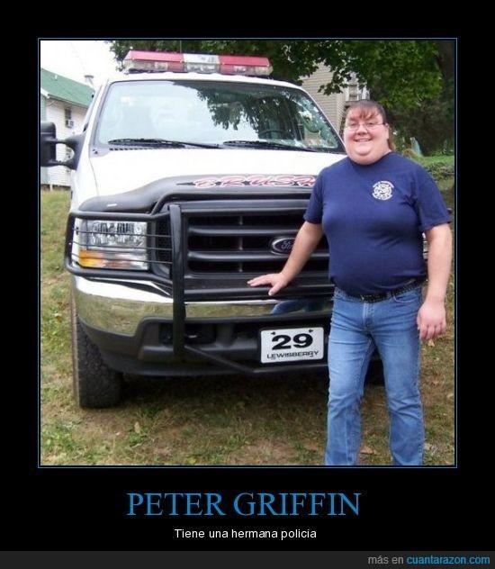 hermana,peter griffin,policía