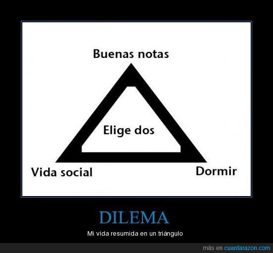 buenas,dilema,dormir,elige,notas,social,vida