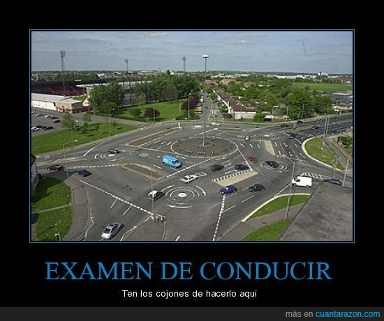conducir,Examen,rotonda