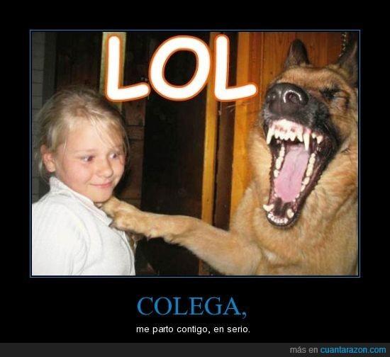 LOL,perro,risa