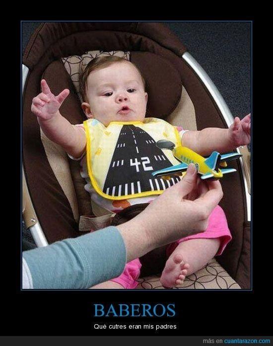 autopista,avión,babero,bebé
