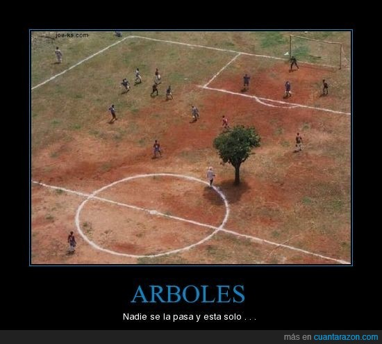 árbol,campo,fútbol