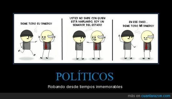 Politicos,robar,senador