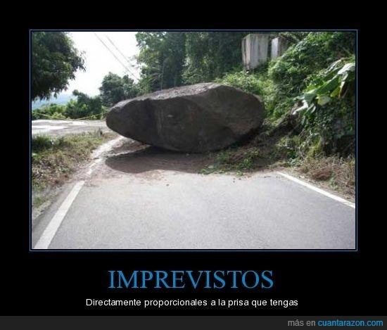 carretera,imprevisto,piedra,prisa